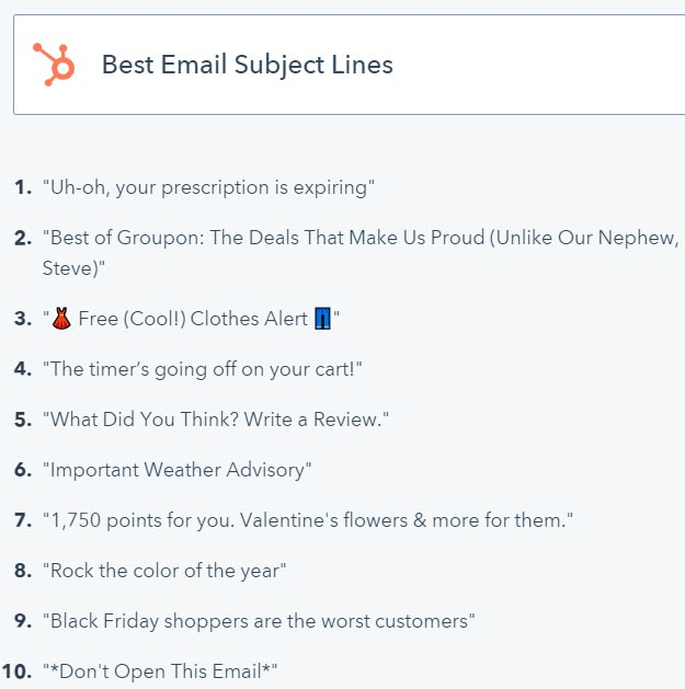 how to write engaging email headline