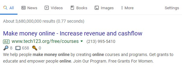 google ads make money from home