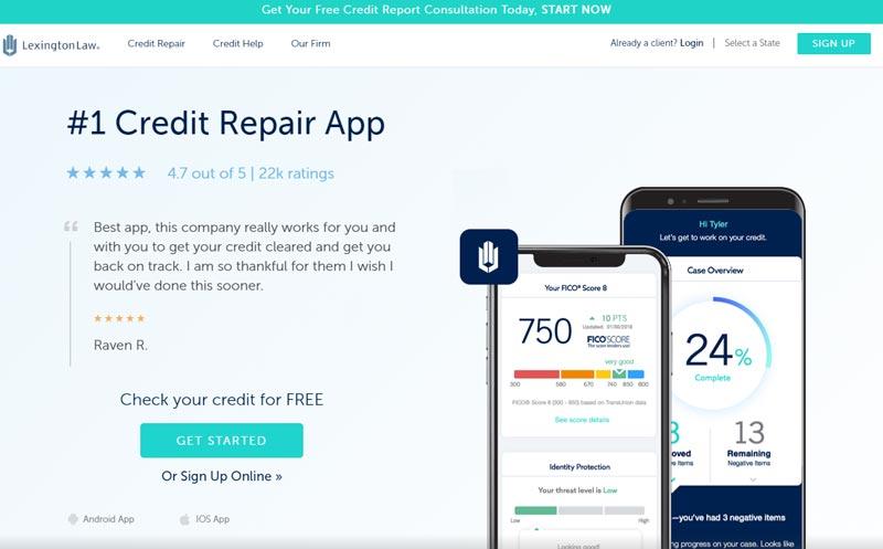 lexington law credit repair service app