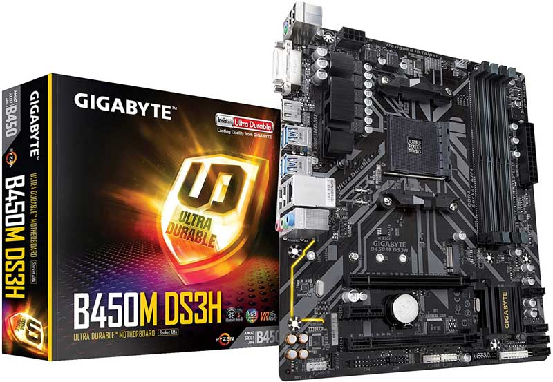 gigabyte b450m ds3h motherboard for ryzen 5 2600