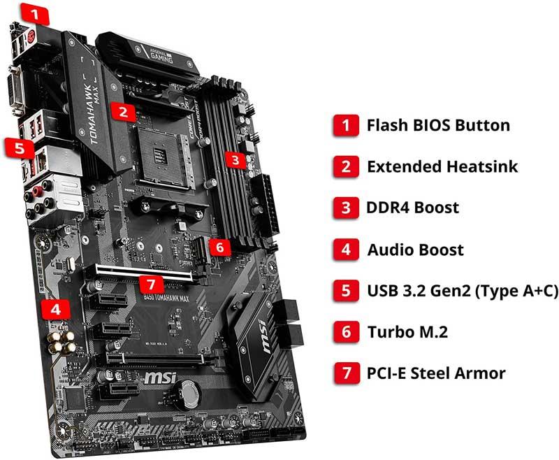msi arsenal gaming amd ryzen 5 2600 motherboard